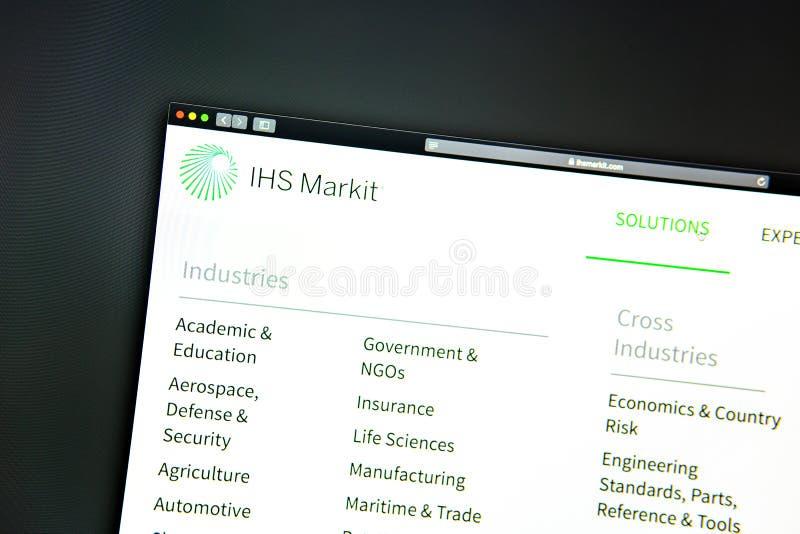 SU homepage de la página web de la compañía Ciérrese para arriba de SU logotipo de Markit imagen de archivo libre de regalías