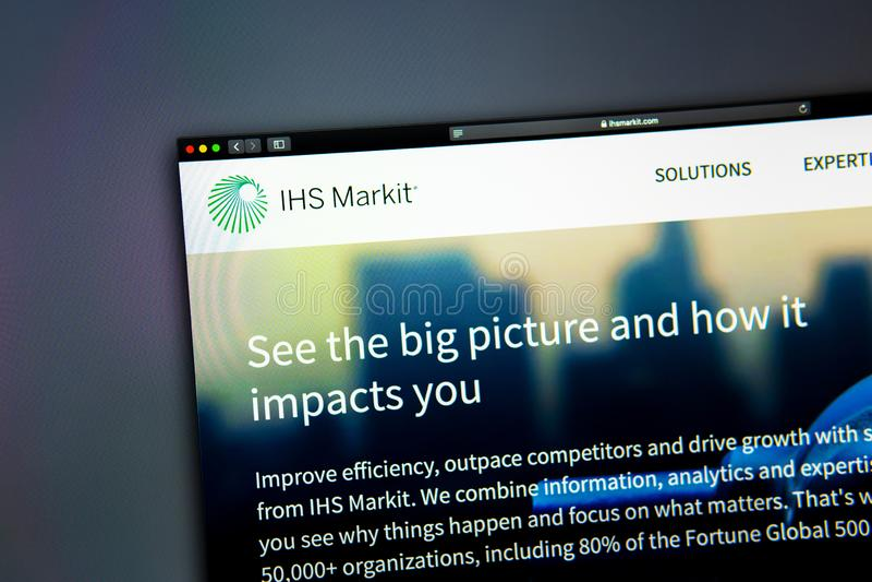 SU homepage de la página web de la compañía Ciérrese para arriba de SU logotipo de Markit foto de archivo libre de regalías