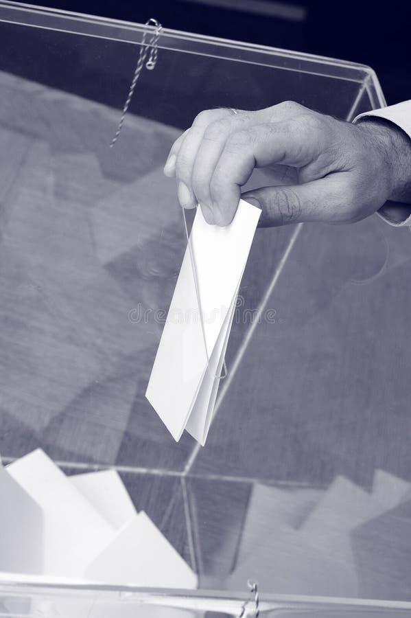 Su hora para las elecciones imagenes de archivo