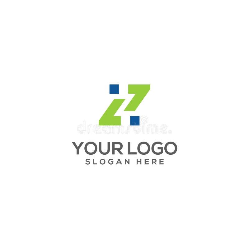 Su letra Z del logotipo de la compañía y lema aquí libre illustration