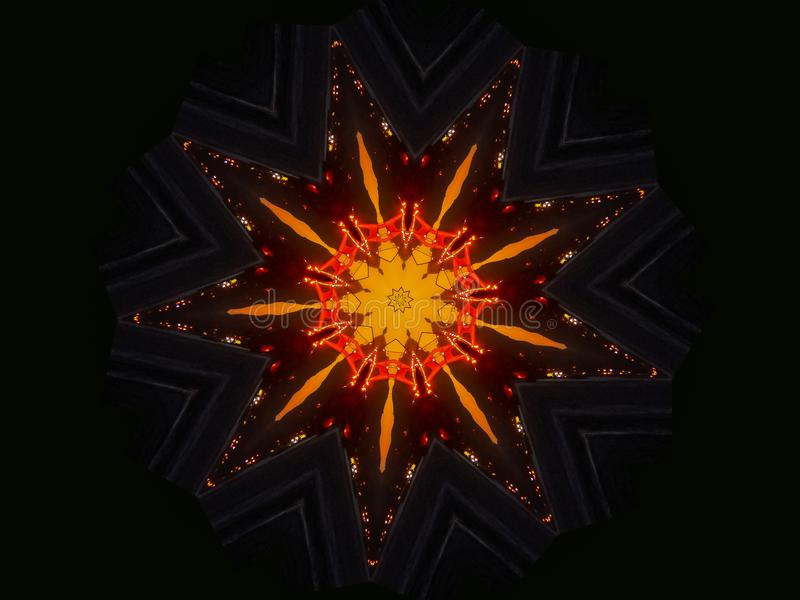 Su mandala anaranjada de la oscuridad de la estrella del exterior soleado libre illustration