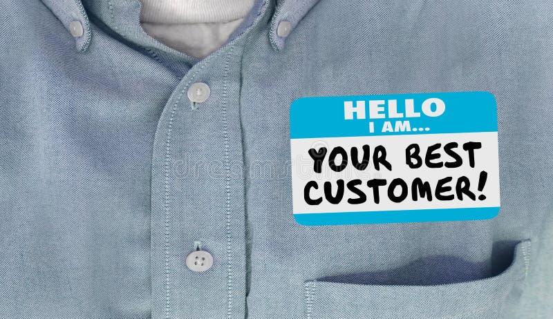 Su mejor etiqueta Loyal Client del nombre del cliente hola libre illustration