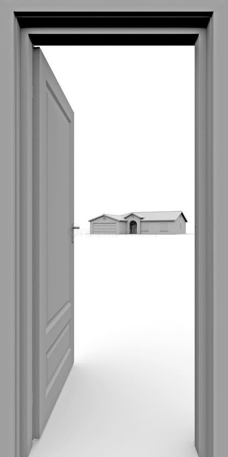 Su nueva casa libre illustration