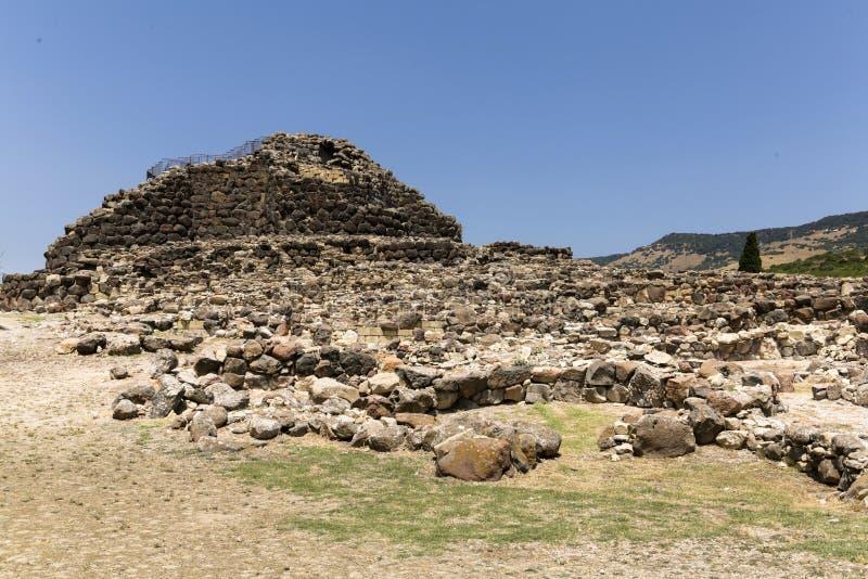 Su Nuraxi Sardinia royaltyfri bild