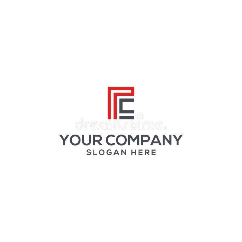 Su PC y lema de la letra del logotipo de la compañía aquí stock de ilustración