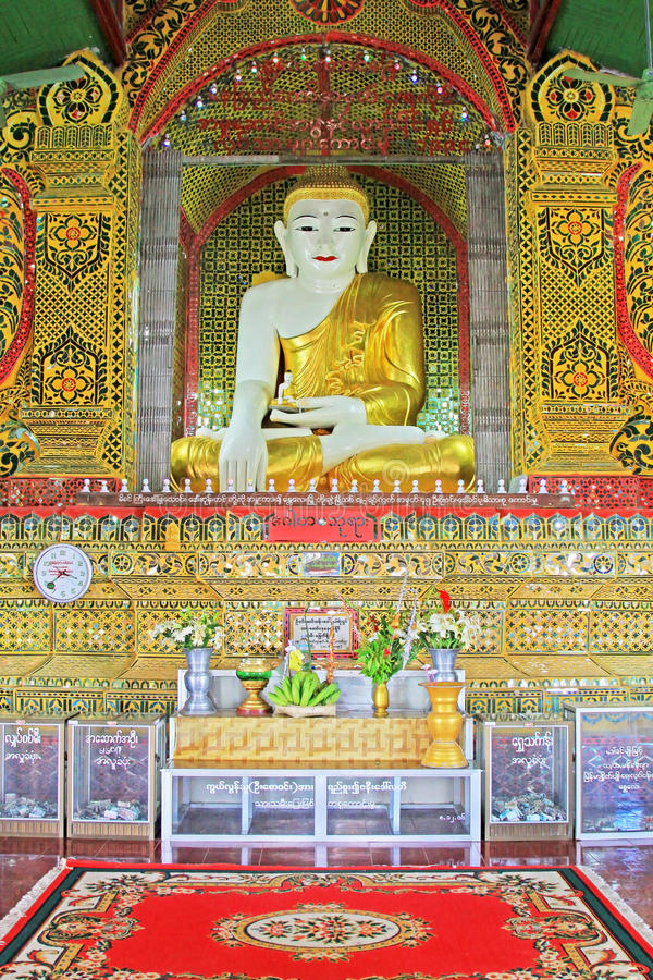 Su Taung Pyai Pagoda Buddha Image, Mandalay, Myanmar. The Su Taung Pyai Pagoda is located on the top of the Mandalay Hill. It was built by King Anawratha in 414 stock image