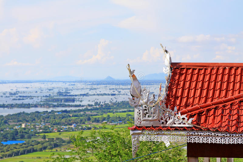 Su Taung Pyai Pagoda And Irrawaddy River, Mandalay, Myanmar. The Su Taung Pyai Pagoda is located on the top of the Mandalay Hill. It was built by King Anawratha stock images