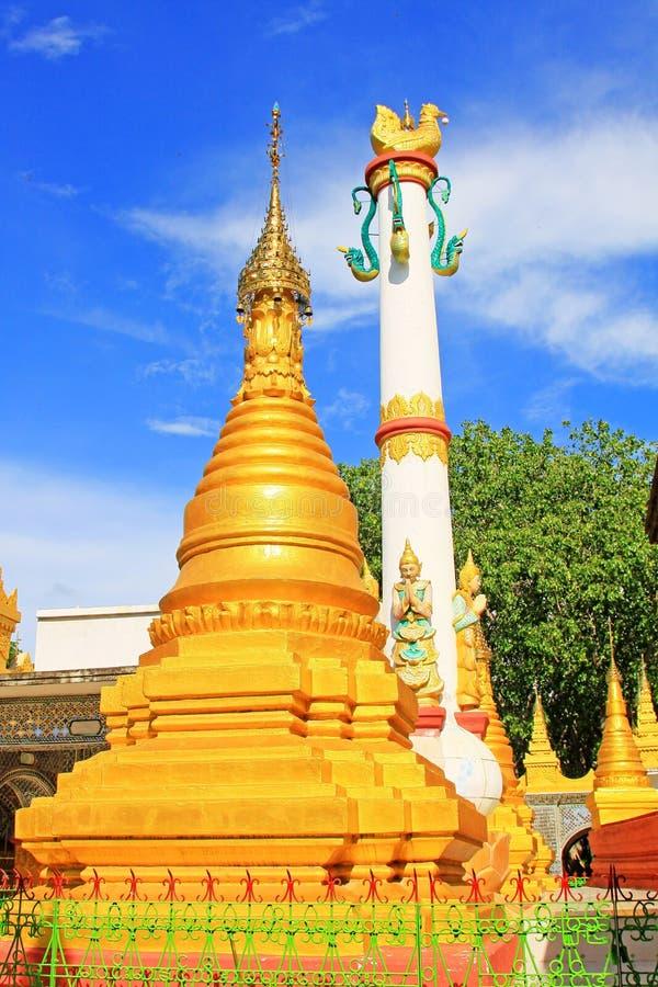 Su Taung Pyai Pagoda, Mandalay, Myanmar. The Su Taung Pyai Pagoda is located on the top of the Mandalay Hill. It was built by King Anawratha in 414 Myanmar Era royalty free stock photography