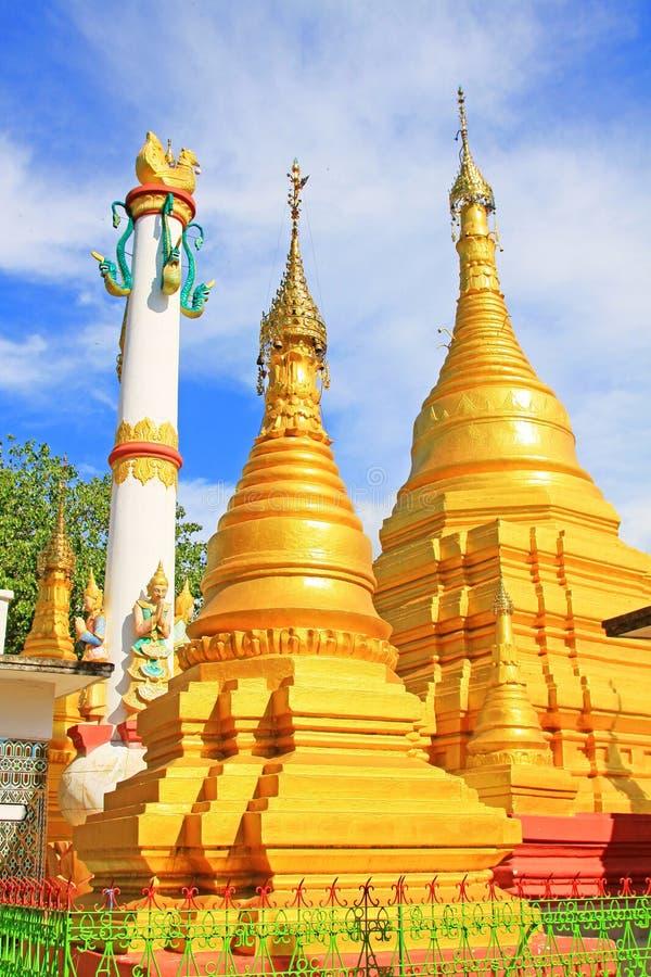 Su Taung Pyai Pagoda, Mandalay, Myanmar. The Su Taung Pyai Pagoda is located on the top of the Mandalay Hill. It was built by King Anawratha in 414 Myanmar Era stock image