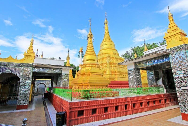 Su Taung Pyai Pagoda, Mandalay, Myanmar. The Su Taung Pyai Pagoda is located on the top of the Mandalay Hill. It was built by King Anawratha in 414 Myanmar Era stock photos