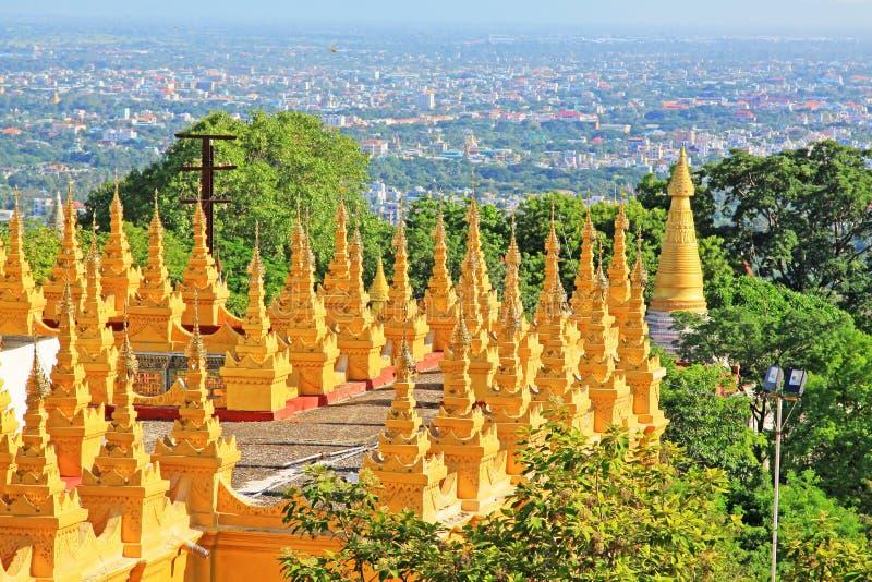 Su Taung Pyai Pagoda, Mandalay, Myanmar. The Su Taung Pyai Pagoda is located on the top of the Mandalay Hill. It was built by King Anawratha in 414 Myanmar Era royalty free stock image