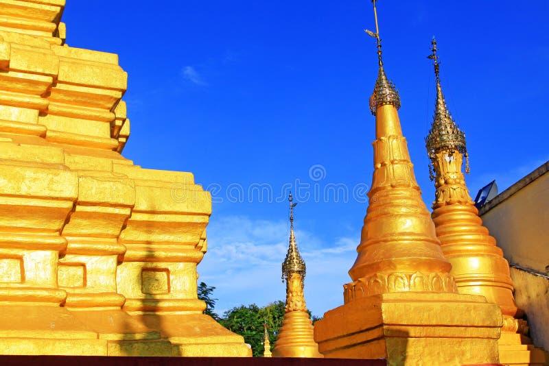 Su Taung Pyai Pagoda, Mandalay, Myanmar. The Su Taung Pyai Pagoda is located on the top of the Mandalay Hill. It was built by King Anawratha in 414 Myanmar Era stock photo