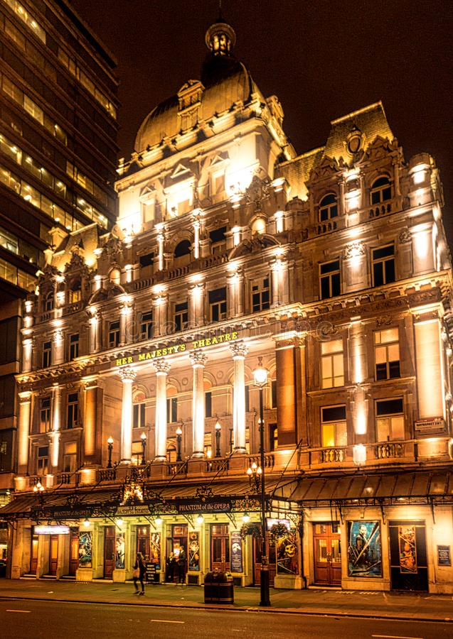 Su teatro Londres del ` s de la majestad imagenes de archivo