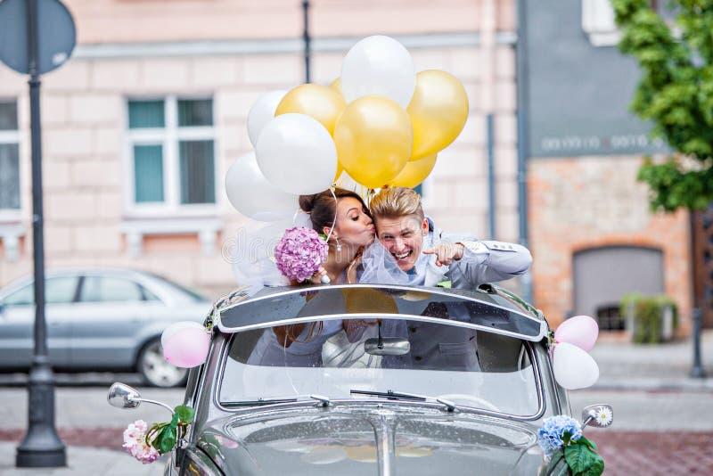 Su un giorno delle nozze fotografia stock libera da diritti