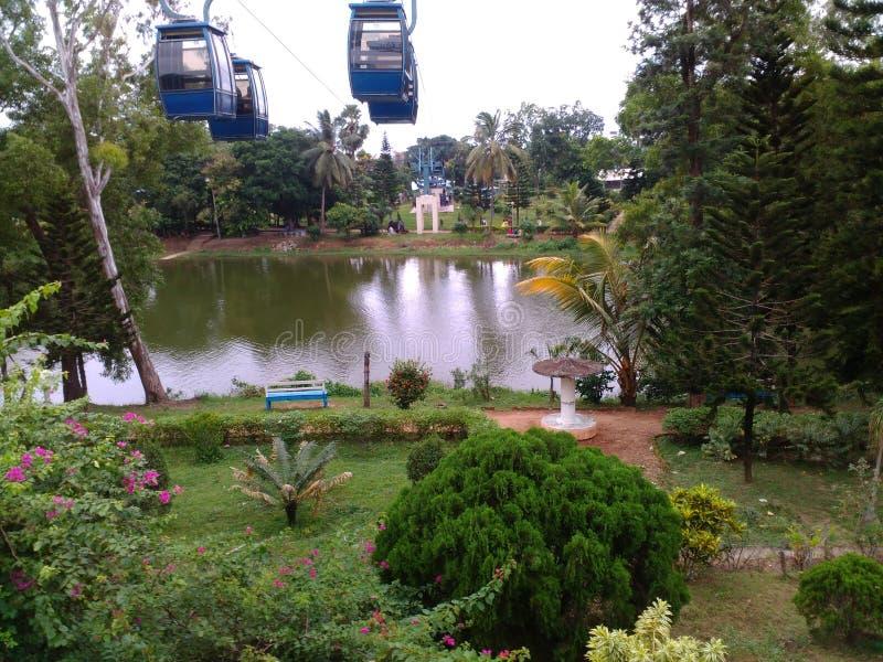 Su un parco vicino alla spiaggia di Digha, il Bengala Occidentale, India fotografia stock libera da diritti