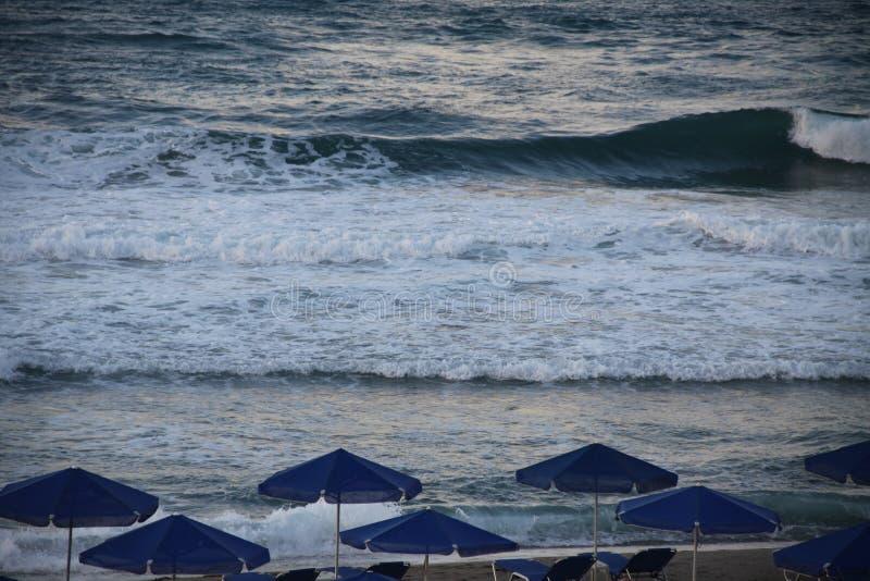 Su una spiaggia del mare fotografia stock libera da diritti