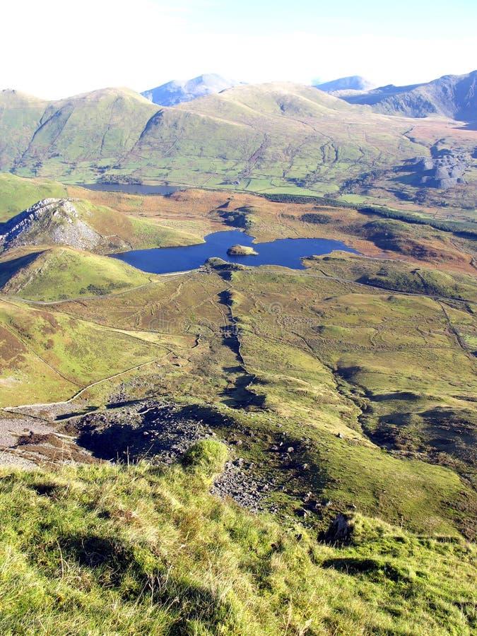 Su Y Garn (Nantlle Ridge) Snowdonia, Galles. fotografie stock