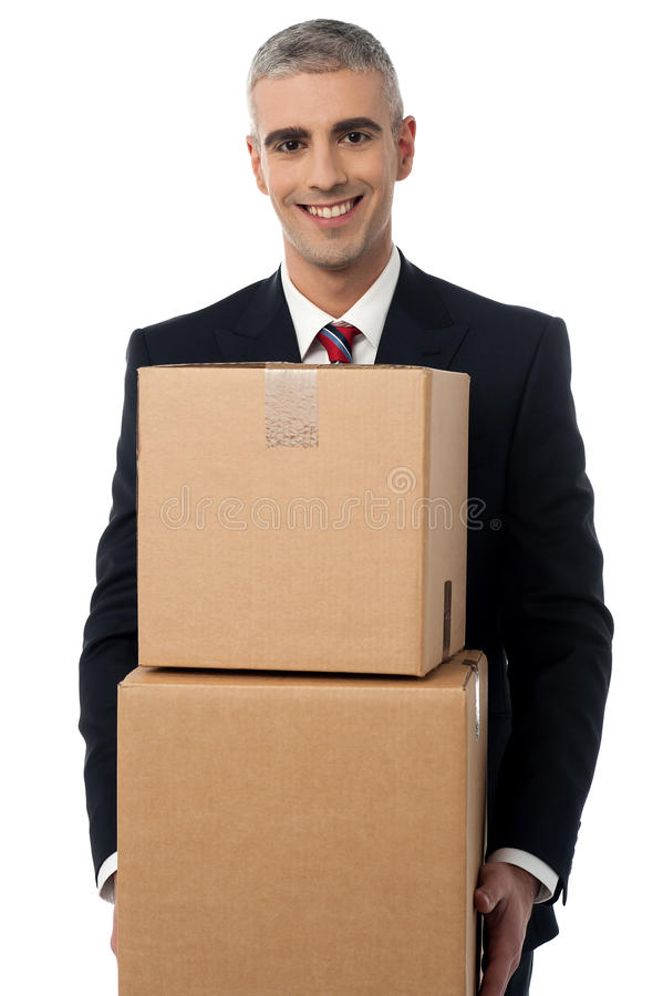 Sua hora de mover-se para um escritório novo imagens de stock