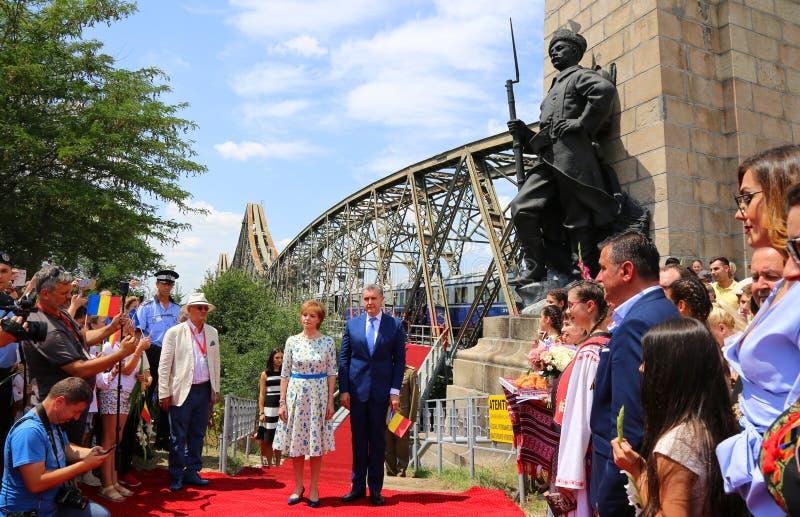 Sua majestade Margaret e sua alteza real Prince Radu Duda fotos de stock royalty free