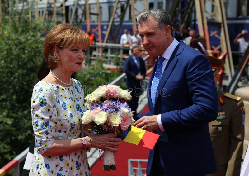 Sua majestade Margaret e sua alteza real Prince Radu Duda foto de stock royalty free