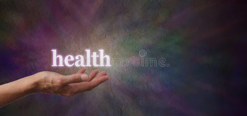Sua saúde está em suas mãos imagem de stock royalty free