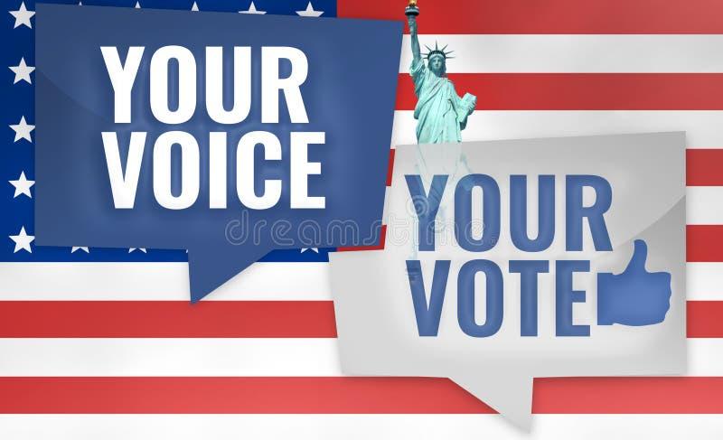 Sua voz seu voto ilustração do vetor