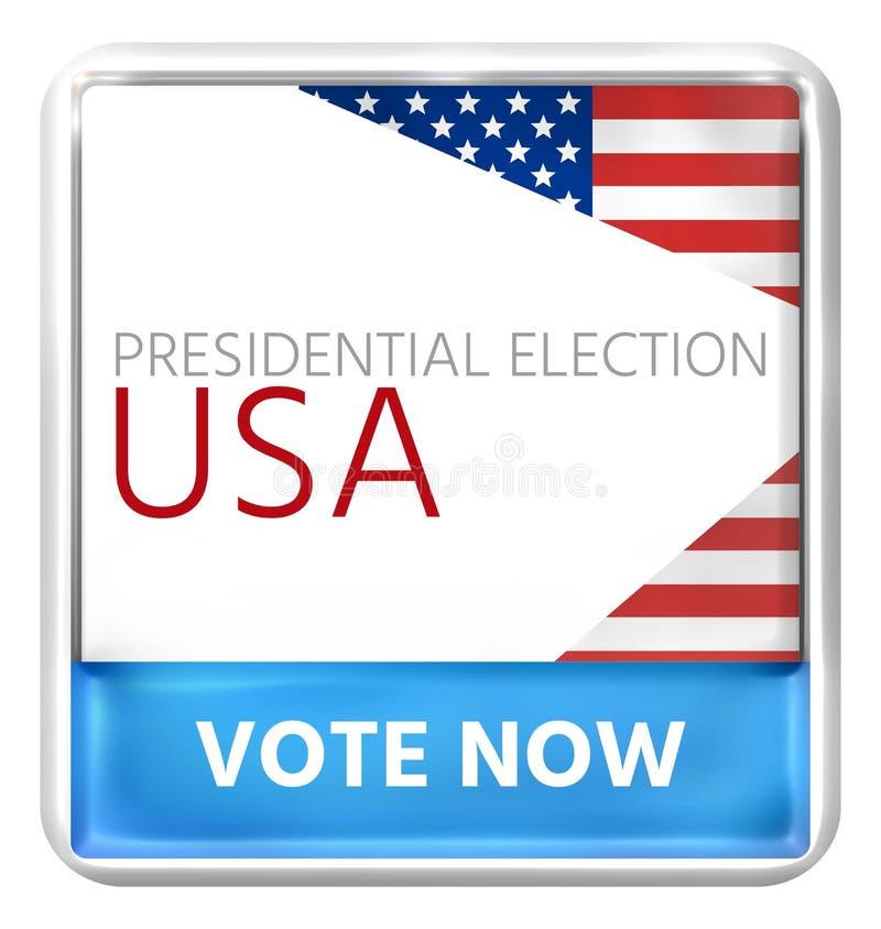 Sua voz seu voto 3D rende EUA ilustração stock
