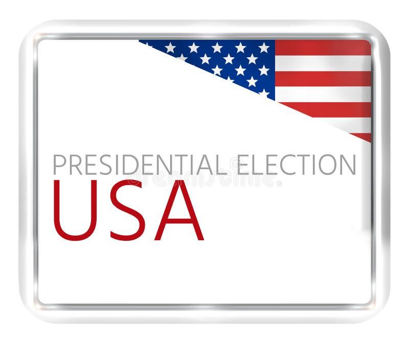 Sua voz seu voto 3D rende o projeto dos EUA ilustração stock