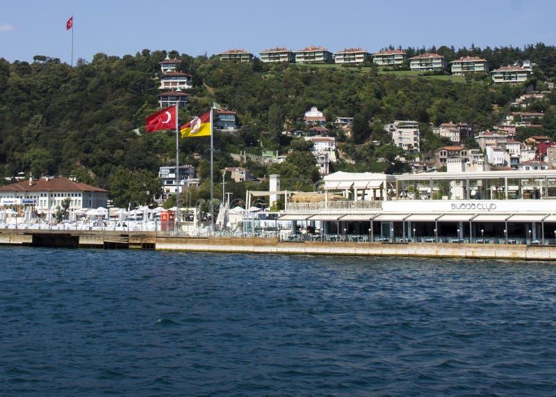 Suada klub przeglądać od Bosphorus fotografia royalty free
