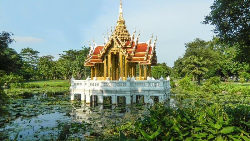 Suan Luang Rama IX公园的,曼谷,泰国塔 图库摄影