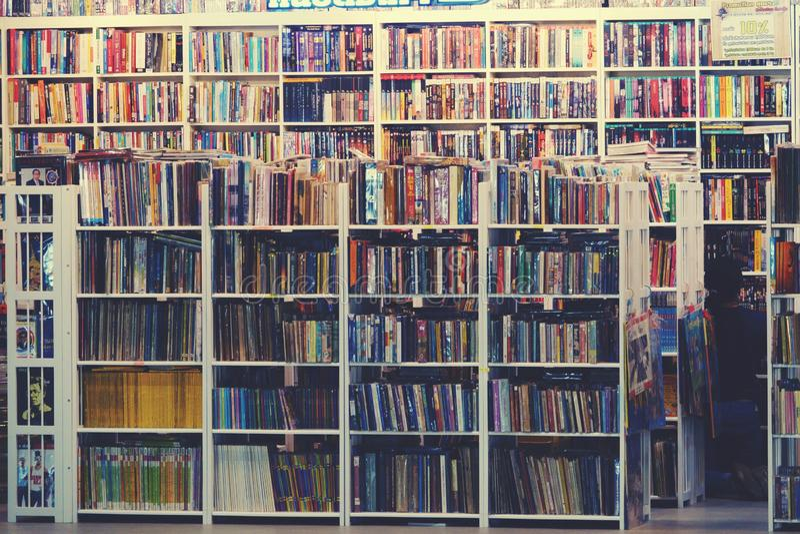 Suan luang thailand 13 november 2018 second hand bookstore. Retro stock photography