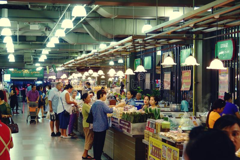 Suan luang thailand 13 november 2018 shopping mall in bangkok. Food court royalty free stock photos