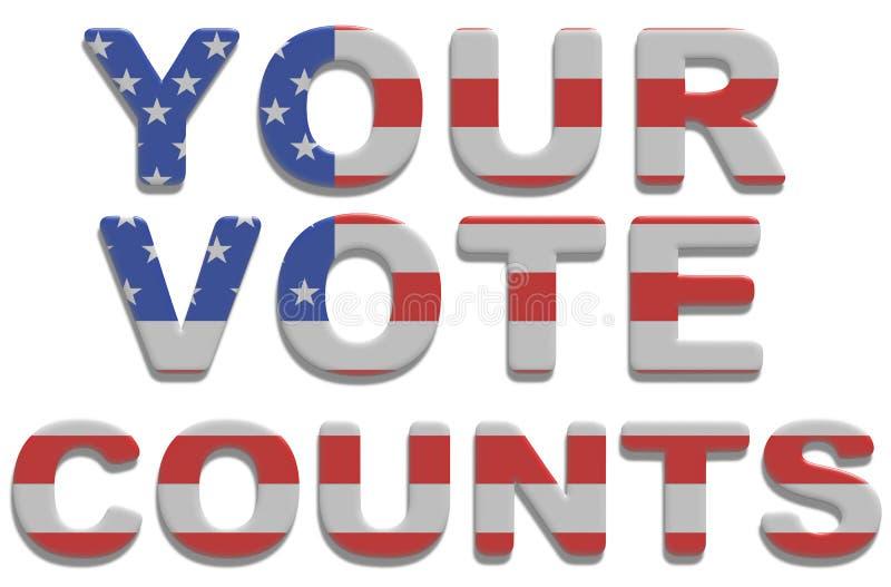 Suas contagens do voto ilustração do vetor