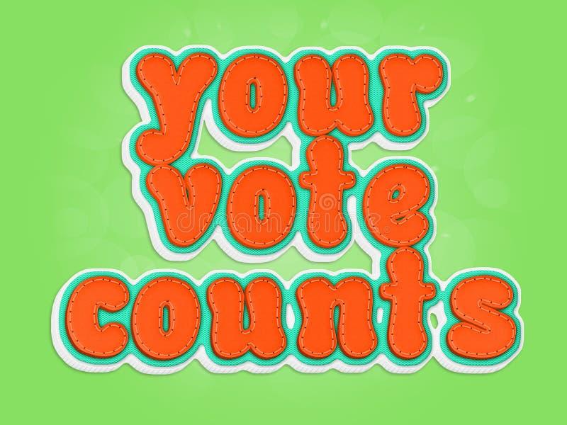 Suas contagens do voto ilustração royalty free