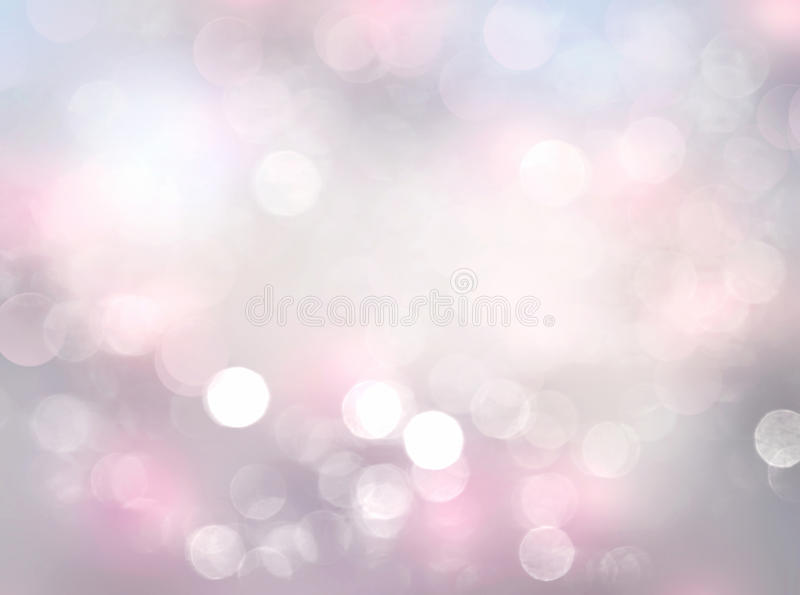 Suavemente fondo abstracto borroso rosa del bokeh stock de ilustración
