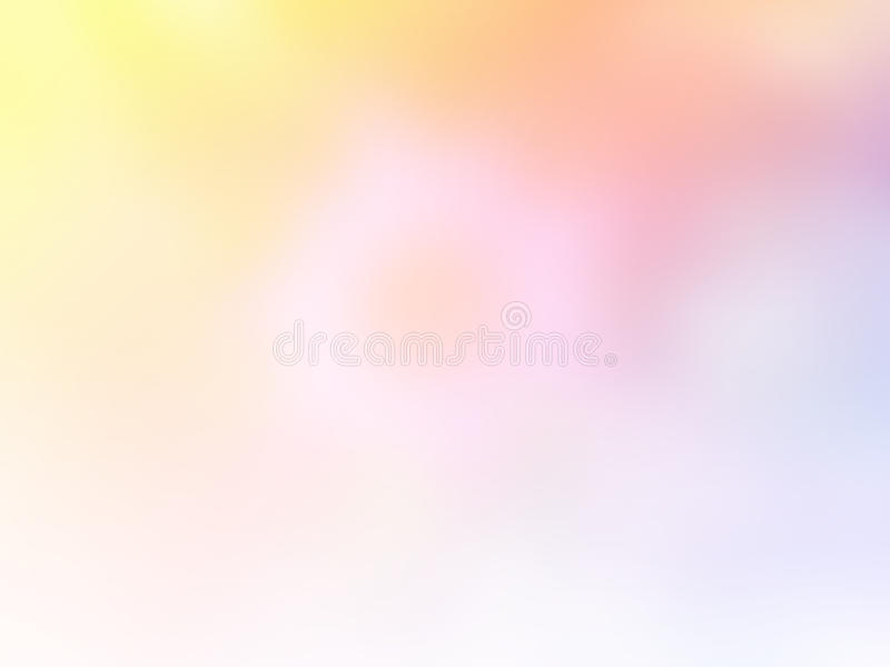 Suavemente fondo borroso dulce del color en colores pastel Papel pintado abstracto de la mesa de la pendiente fotografía de archivo