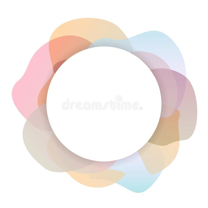 Suavemente la pendiente coloreada pastel forma el fondo del círculo libre illustration