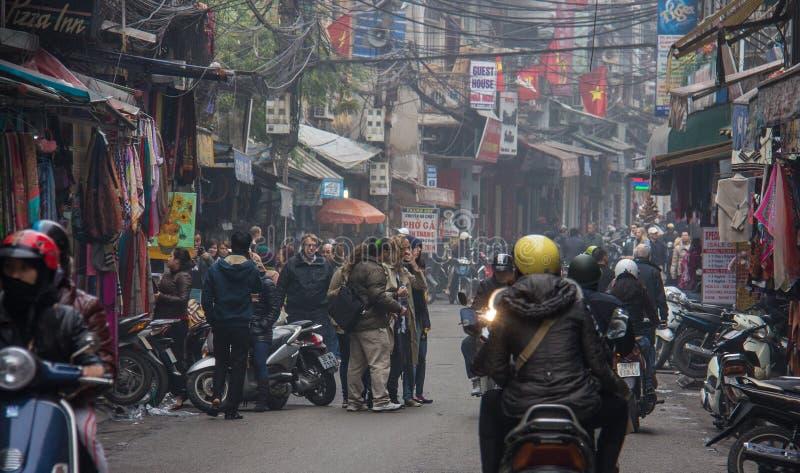 Suavização e tráfego congestionado em Hanói imagem de stock