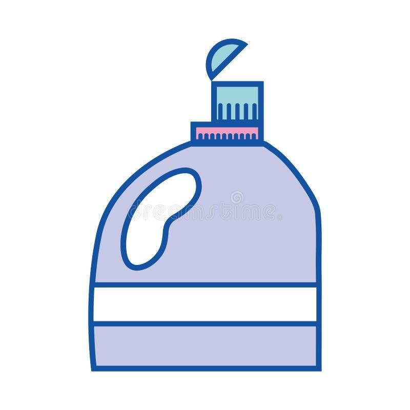Suavizador agradable en diseño del estilo de la botella ilustración del vector