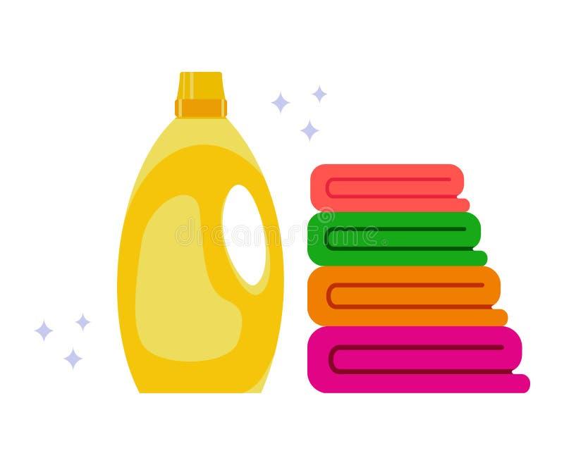 Suavizador de la tela Toalla limpia El concepto de limpieza y de comodidad en la casa Ilustraci?n com?n del vector libre illustration