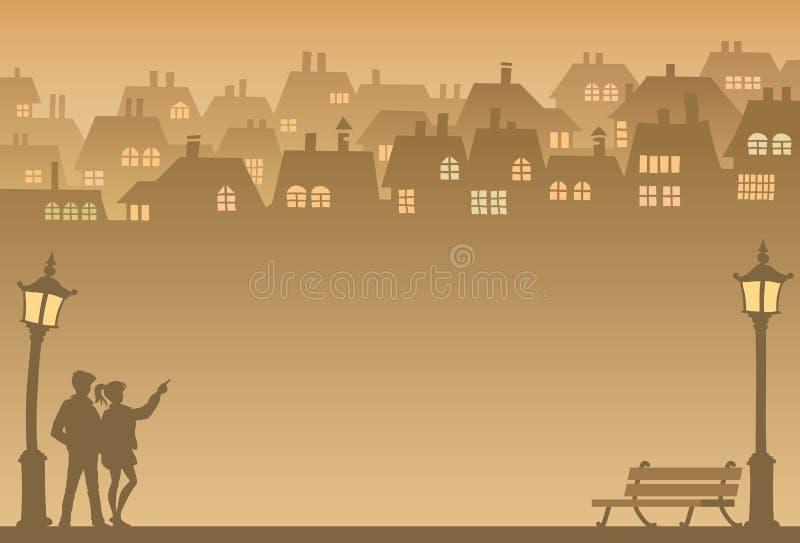 Subúrbio ilustração stock