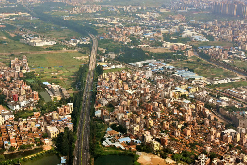 Subúrbio da cidade de Guangzhou foto de stock royalty free