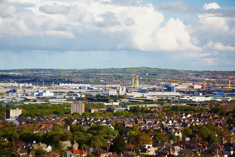 Subúrbios de Belfast fotografia de stock royalty free