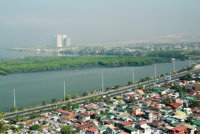Subúrbios de Manila imagem de stock