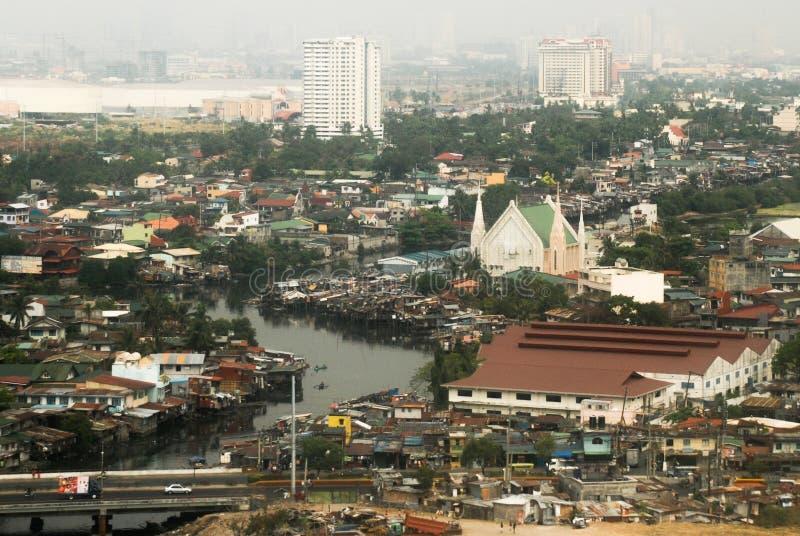 Subúrbios de Manila fotografia de stock royalty free