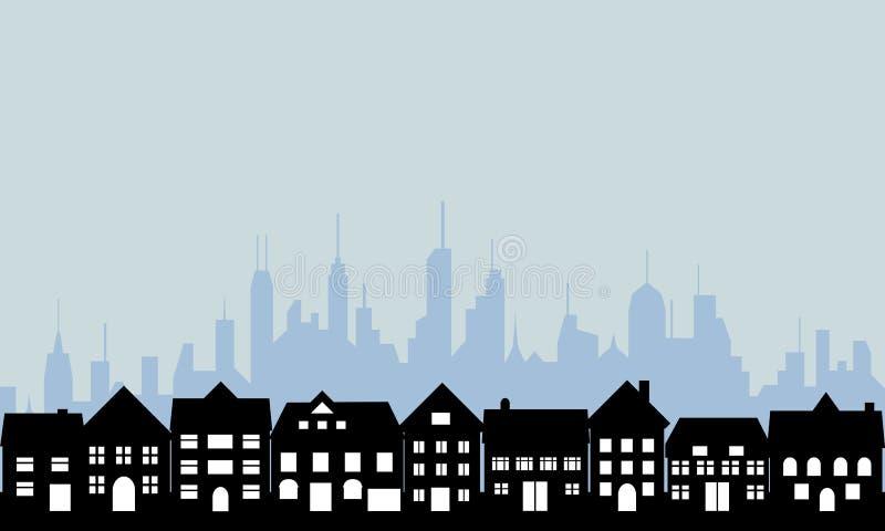 Subúrbios e cidade urbana fotografia de stock