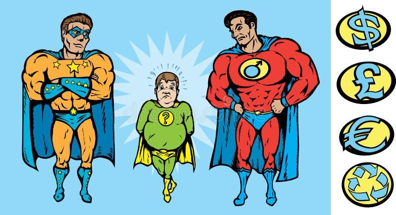 Sub par Hero stock illustration