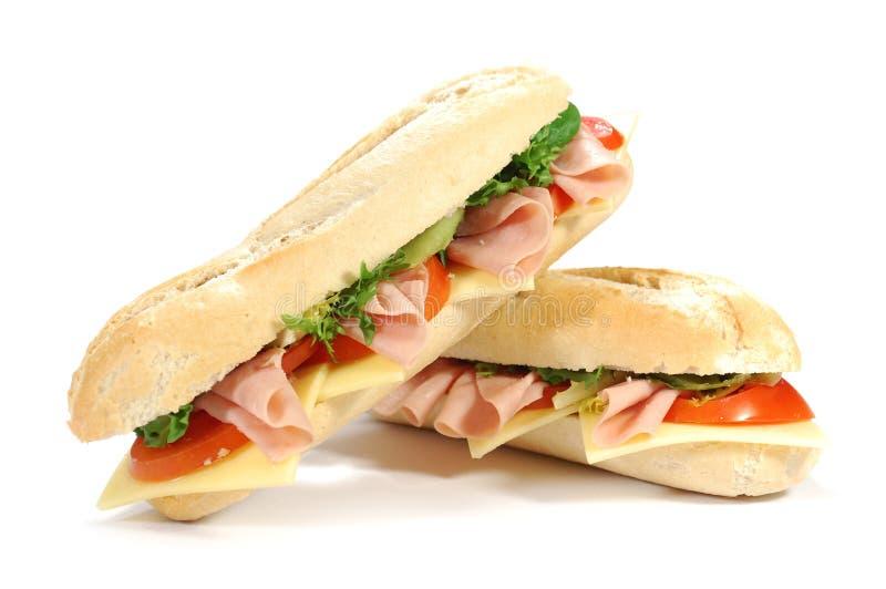Sub sandwiches stock image