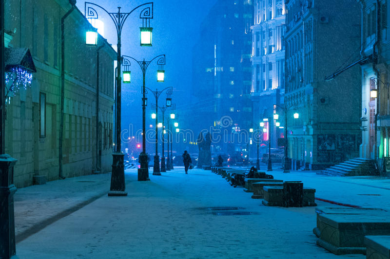 Sub Zero in Moscow stock photo