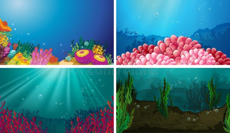 subacqueo illustrazione vettoriale